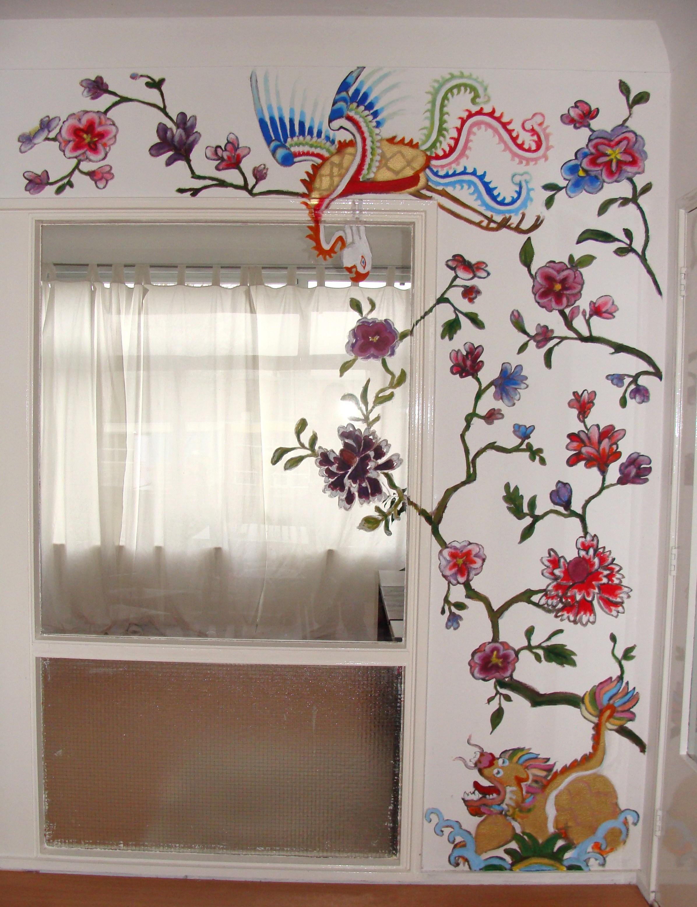 Laura boomsma muurschildering - Schilderij kamer ontwerp ...